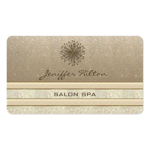 Professional elegant chic glittery dandelion business card template