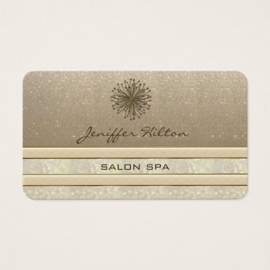 Professional elegant chic glittery dandelion business card