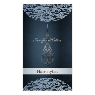 Professional elegant chic luxury  damask scissors Double-Sided standard business cards (Pack of 100)