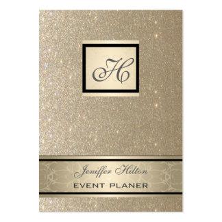 Professional elegant chic luxury glittery monogram large business card