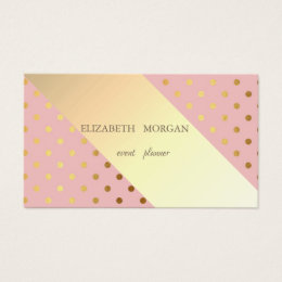 Professional Elegant Chic  Polka Dots,Stripes Business Card