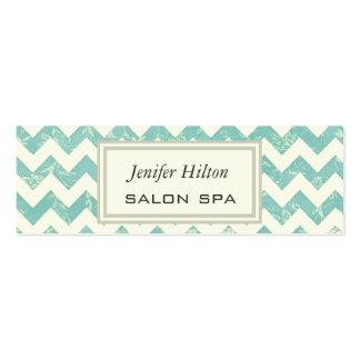 Professional elegant classy chevron vintage floral mini business card