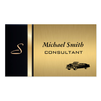 Professional elegant classy luxury golden old car Double-Sided standard business cards (Pack of 100)