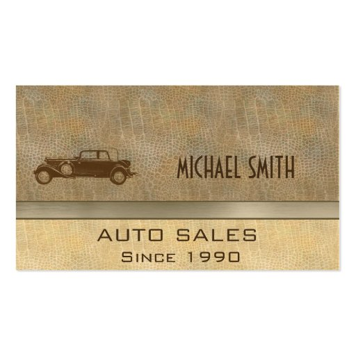 Professional elegant classy vintage old car business card template