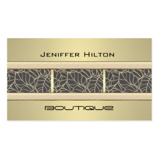Professional elegant contemporary chic leves gold Double-Sided standard business cards (Pack of 100)