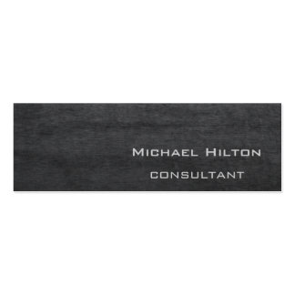 Professional elegant contemporary grey texture mini business card