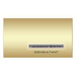 Professional elegant contemporary plain golden business cards