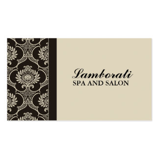 Professional Elegant Cosmetologist Damask Floral Business Card Template