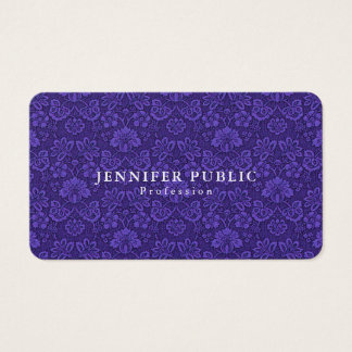 Professional Elegant Design Damask Luxury Business Card