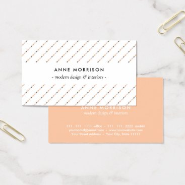 Professional Business Professional Elegant Diagonal Stripes Business Card