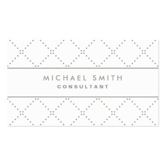 Professional Elegant Dot Pattern White Simple Double-Sided Standard Business Cards (Pack Of 100)