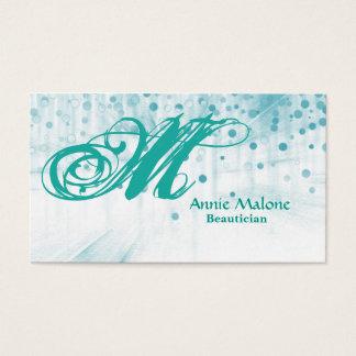 Professional Elegant Faux Blue Foil Confetti Business Card