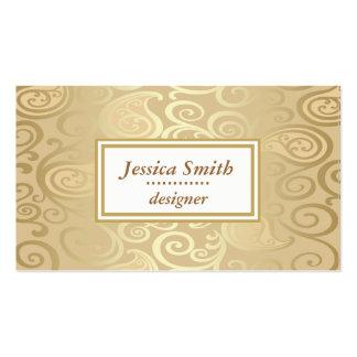 Professional elegant gentle floral gold business card