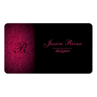 Professional elegant gentle floral monogram business card