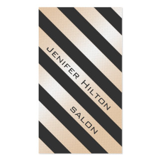 Professional elegant gentle modern shiny stripes Double-Sided standard business cards (Pack of 100)