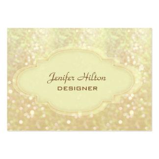 Professional elegant glitter bokeh large business card