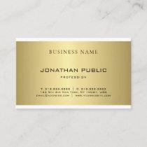 Professional Elegant Gold Look Modern Sleek Plain Business Card