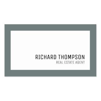 professional & elegant, gray border, minimal business card