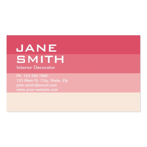 Professional Elegant Interior Designer Decorator Business Card Zazzle