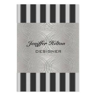 Professional elegant luxury abstract silver stripe business card templates