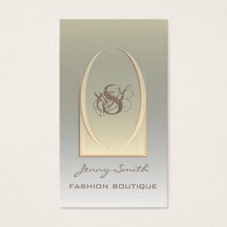 Professional elegant luxury ellipse monogram business card