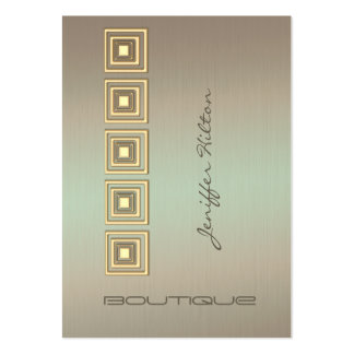 Professional elegant luxury metal look large business card
