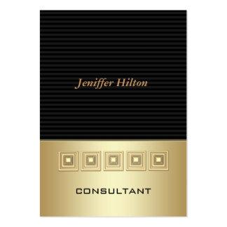 Professional elegant luxury stripes golden large business card