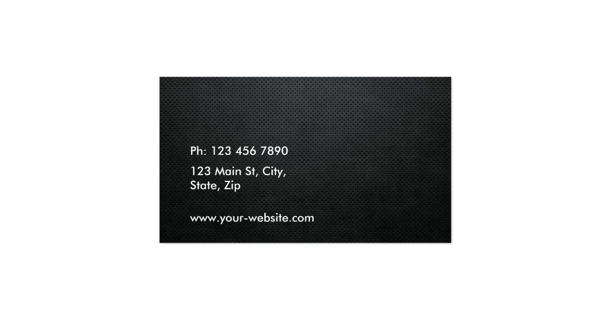 Professional Elegant Metal Black White Groupon Business
