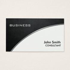 Professional Elegant Metal Black White Groupon Business Card at Zazzle