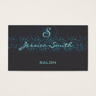 Professional elegant modern animal print monogram business card