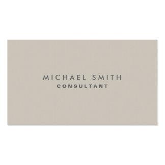 Professional Elegant Modern Beige Plain Simple Business Card