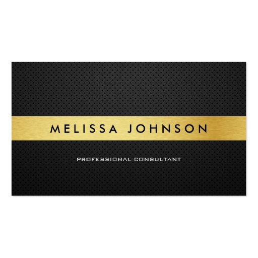 Professional Elegant Modern Black and Gold Double-sided Standard Business Cards (pack Of 100)