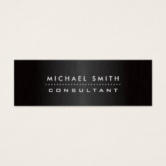 Professional Elegant Modern Black  Brushed Metal Mini Business Card