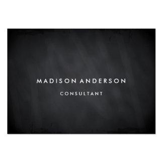 Professional Elegant Modern Black Chalk Board Large Business Card