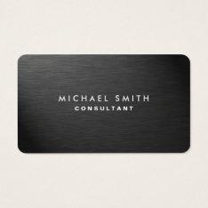 Professional Elegant Modern Black Plain Metal Business Card at Zazzle
