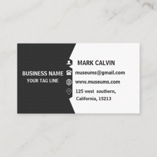 Southern california business cards templates zazzle professional elegant modern black plain metal business card reheart Images