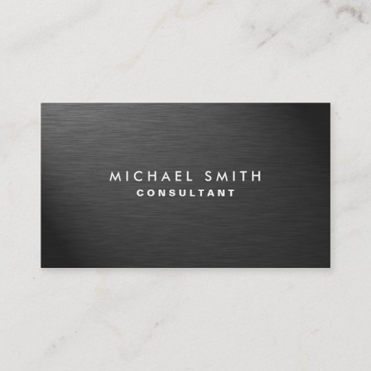 Professional elegant modern black plain metal business card zazzle professional elegant modern black plain metal business card reheart Image collections