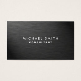 Modern business cards templates zazzle professional elegant modern black plain metal business card colourmoves