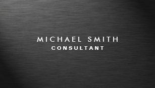 Professional business cards zazzle professional elegant modern black plain metal business card colourmoves Choice Image