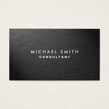 Lamborati Professional Elegant Modern Black Plain Metal Business Card