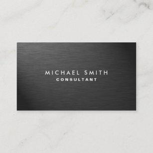 Professional business cards zazzle professional elegant modern black plain metal business card colourmoves