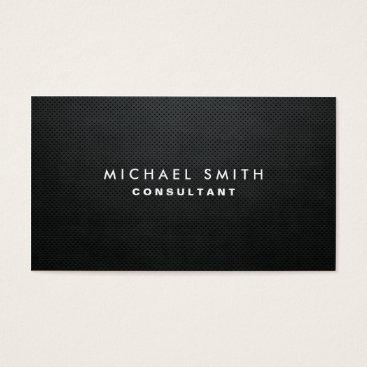 Lamborati Professional Elegant Modern Black Plain Simple Business Card