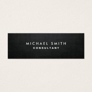 Professional Elegant Modern Black Plain Simple Mini Business Card