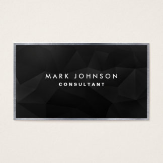 Professional Elegant Modern Black Polygon Cards