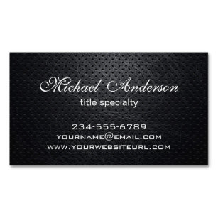 Magnetic business cards templates zazzle professional elegant modern black scratched metal magnetic business card colourmoves