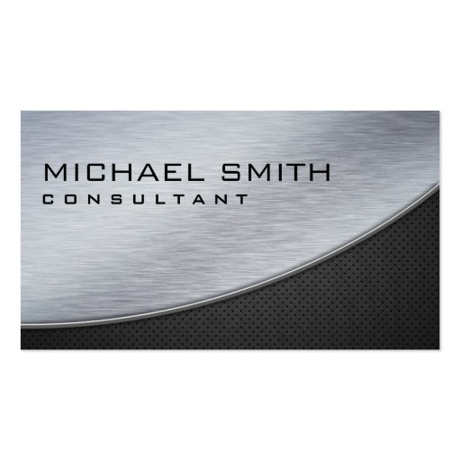Professional Elegant Modern Black Silver Metal Business Card Templates