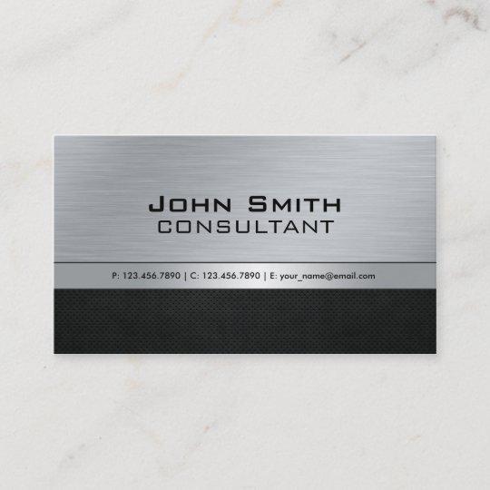 Professional elegant modern black silver metal business card professional elegant modern black silver metal business card reheart Images