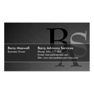 Professional Elegant Modern Black Simple Double-Sided Standard Business Cards (Pack Of 100)