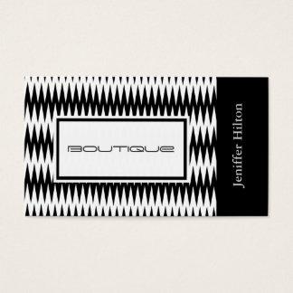 Professional elegant modern black white chevron business card