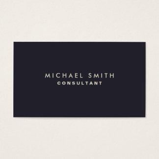 Professional Elegant Modern Blue Plain Simple Business Card